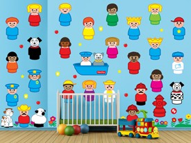 Fisher-Price Little People Wall Decal Set
