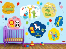 Fisher Price Animal Party Wall Decal Set