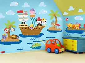 Fisher-Price Pirate Animal Wall Decal Set