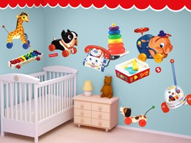 Fisher-Price Vintage Toys Wall Decal Set