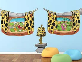 Flintstones Barbecue Window Wall Decals