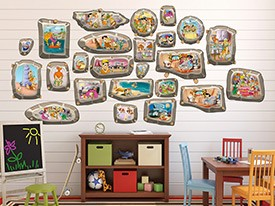 Flintstones Family Frames Wall Decals