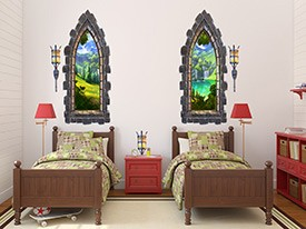 Castle Window Wall Decal Set