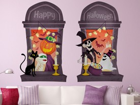 Halloween Party Window Wall Decal