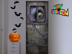 Zombie Monster Eye Door or Wall Decal
