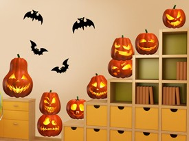 Pumpkins Large Wall Decal Set