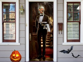 Skeleton Butler Wall or Door Decal