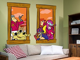 Hanna-Barbera Wacky Window Decals