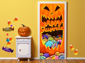 Halloween Pumpkin Wall or Door Decal