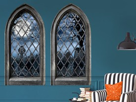 Haunted Castle Window Wall Decals