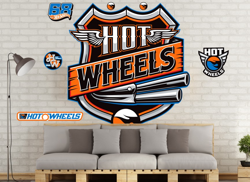 Hot Wheels Wall Decals And Wall Graphics Shop Wall Ah