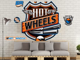 Hot Wheels Cars Headboard or Wall Decal 4