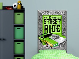 Hot Wheels Cars Headboard or Wall Decal