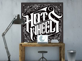 Hot Wheels Car Bandana Wall Decal