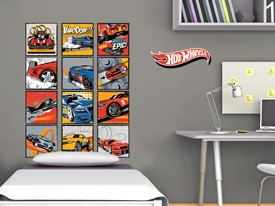 Hot Wheels Cars Classic Wall Decal Set