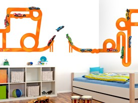 Hot Wheels Cars & Tracks Wall Decal Set