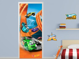 Hot Wheels Cars Door or Wall Decal