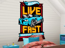 Hot Wheels Cars Headboard or Wall Decal 3