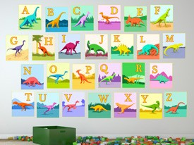 Dinosaur Train Alphabet Wall Decals