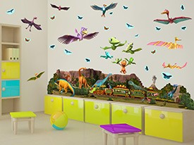 Dinosaur Train Landscape Wall Decals