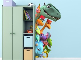 Dinosaur Train Peek-A-Boo Wall Decal