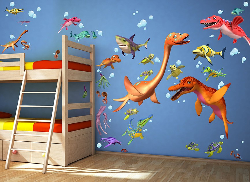 Dinosaur Train Underwater Wall Decals