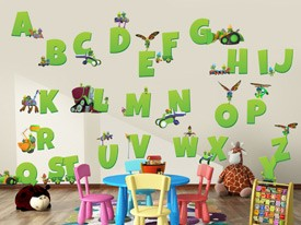 Doozers Large Alphabet Wall Decal Set