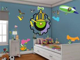 Doozers Construction Wall Decal Set