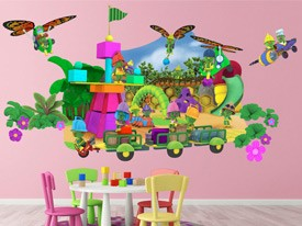 Doozers Playground Large Wall Decal