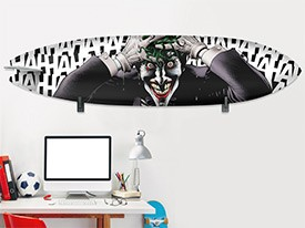 Batman Joker Surfboard Wall Decal