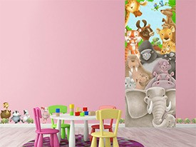 Jungle Animals Wall or Door Decal