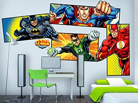 Justice League Superhero Wall Decal Set