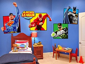 Justice League Large Wall Decal Set