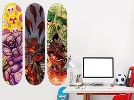 Justice League Skateboard Wall Decal Set
