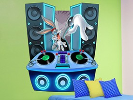 Looney Tunes DJ Bugs Bunny Wall Decal