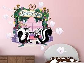 Looney Tunes Loveurs Lane Wall Decal