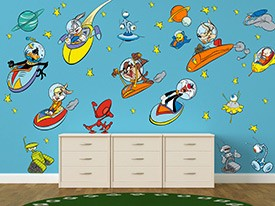 Looney Tunes Outer Space Wall Decals