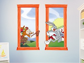Looney Tunes Bugs Bunny Window Wall Decal