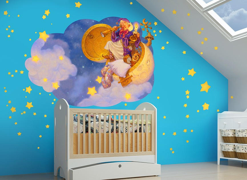 Man in the Moon Wall Decal