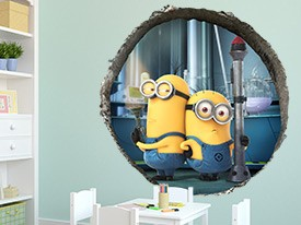 Minions Fart Gun Wall Decal