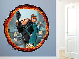 Minions, Gru and Lucy Wall Decal