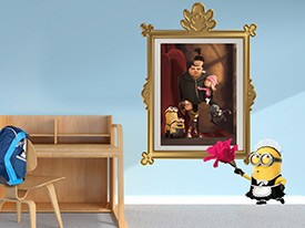 Minions Maid Dusting Wall Decal