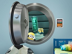 Minions Stealing Shrink Ray Wall Decal