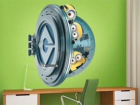 Minions & Gru's Vault Door Wall Decal