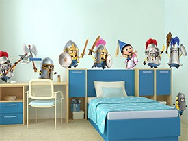 Minions Viking March Wall Decals