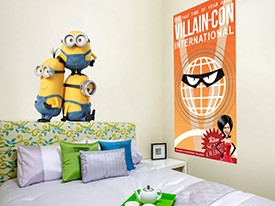 Minions Villain Con Poster Wall Decal