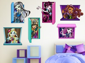 Monster High Characters Wall Decal Set
