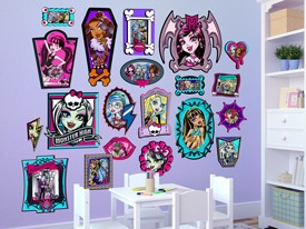 Monster High Family Frames Wall Decals
