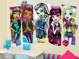 Monster High Characters Wall Decal Set 2