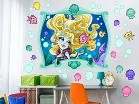 Monster High Aquarium Wall Decal Set